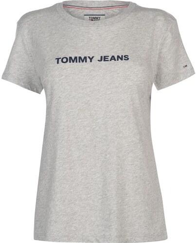 Dámské triko Tommy Hilfiger Jeans Crew Logo T Šedé - Glami.sk c0dec8bf440