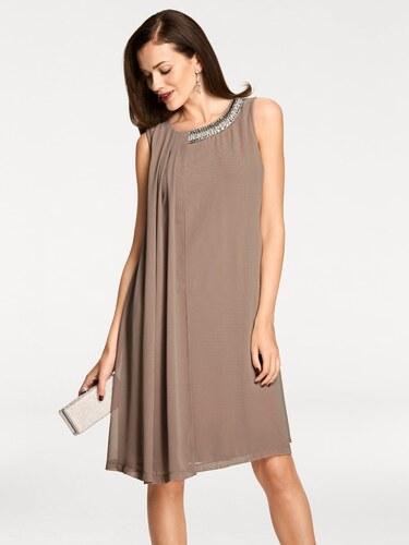 2f5417ab6943 heine TIMELESS Šifónové šaty hnedosivá - Glami.sk