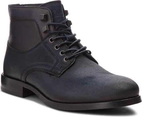 -38% Outdoorová obuv TOMMY JEANS - Casual Suede Mix Boo EM0EM00140 Ink 006 a7c1721e361