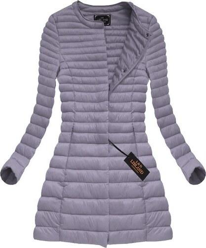 LIBLAND Dámský podzimní kabát fialový (X7148X) - XL (42) - Glami.cz 038fbb0c4a0