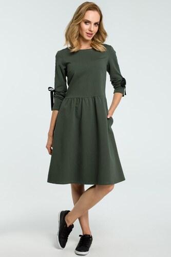 Dámske šaty MOE M388 vojenská zelená - Glami.sk a25f0a3d20b