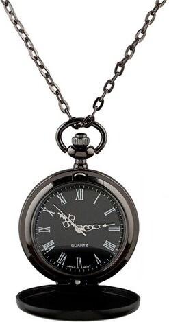 51dab8225 S4U Malé kapesní hodinky otevírací černé - cibule - Glami.cz