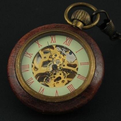 S4U Retro dřevěné kapesní hodinky - cibule - Glami.cz d8db70000f6
