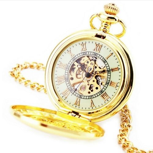 Zlacené kapesní hodinky - Glami.cz d72cf34e08