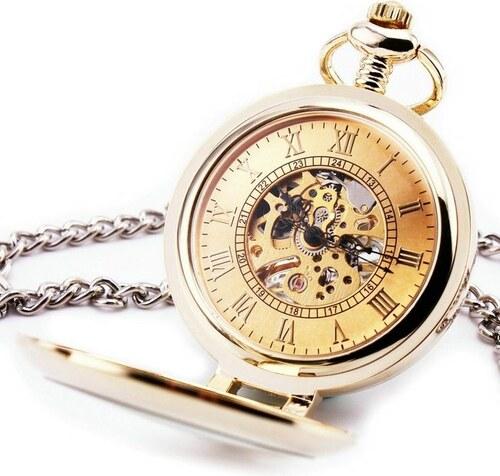 S4U Zlacené mechanické kapesní hodinky otevírací - cibule - Glami.cz a0f0848e1a