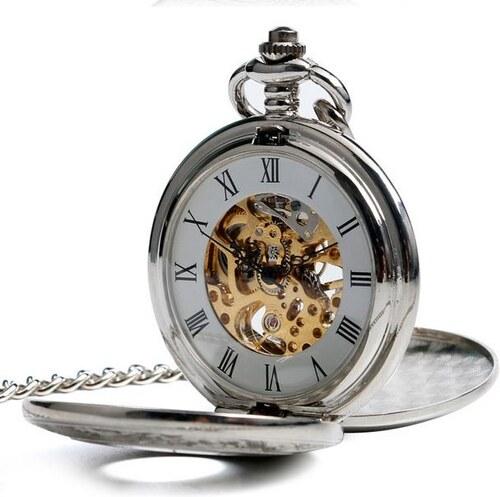 S4U Mechanické kapesní hodinky otevírací s oramenty - cibule - Glami.cz 0f4aa9a83c