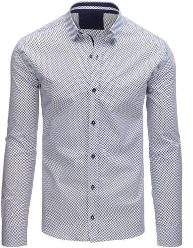 55bbca8ca2ff Buďchlap Biela košeľa s modrými guličkami - Glami.sk