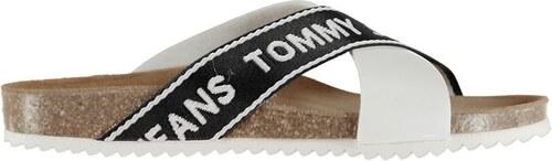 Dámské pantofle Tommy Hilfiger Jeans Cork Bílé - Glami.sk 740ed9cc90