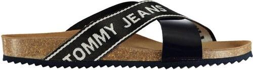 Dámské pantofle Tommy Hilfiger Jeans Cork Černé - Glami.cz 19fe77139d