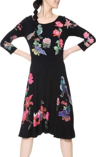 97931611b683 Desigual fekete ruha Katixa szines motívumokkal - Glami.hu