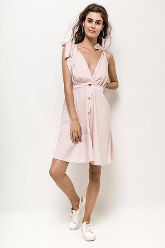Rouzit Krátke ružové letné šaty na ramienka - Glami.sk 08f4a59c15b