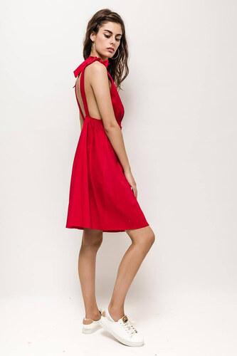 64a88ed990eb Rouzit Krátke červené letné šaty na ramienka - Glami.sk