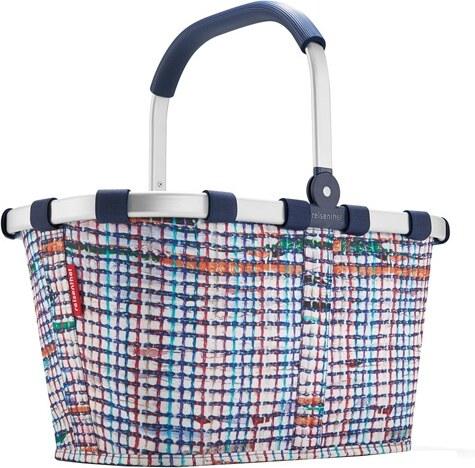 dfa06468b Nákupný košík Reisenthel Biely s farebnými prúžkami, carrybag - Glami.sk