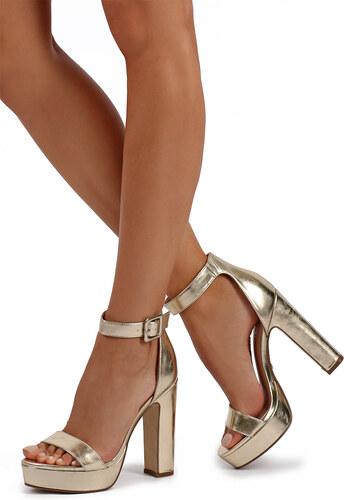 ad16589835c7 Ideal Zlaté sandále Alana - Glami.sk