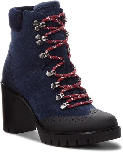 7fdd818d50 Členková obuv TOMMY HILFIGER - Modern Hiking Heeled FW0FW03057 Tommy Navy  406