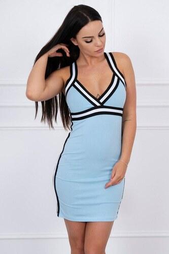 MladaModa Športové šaty s pásikmi modré - Glami.sk 0f307cf1b6f