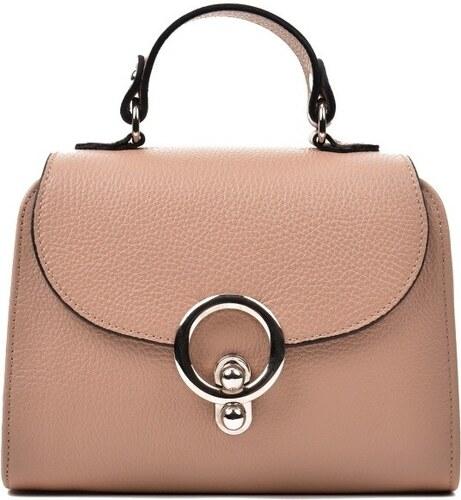 Hnedá kožená kabelka Renata Corsi Stefania - Glami.sk f0d696af349