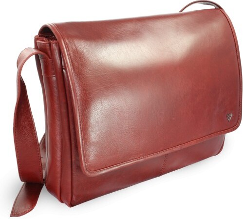 Arwel Kožená taška na notebook - červená - Glami.cz a8e7f2a3e1