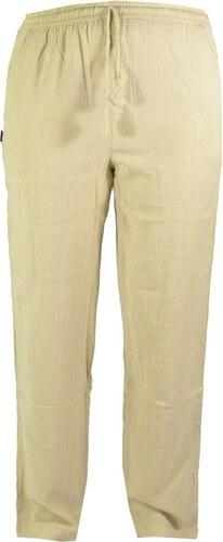 Unisex dlouhé béžové kalhoty s kapsami 5e5faa4f72