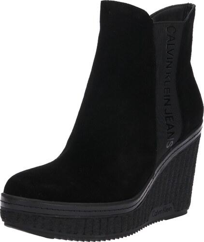 1aa3440346 Calvin Klein Jeans Členkové čižmy  SHANNA  čierna - Glami.sk