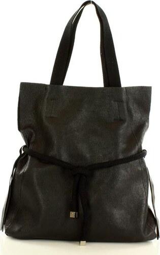aefe06381a0 Čierna kožená kabelka vera pelle MARCO MAZZINI (s166c) - Glami.sk