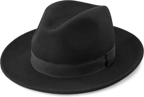 Fawler Černý vlněný klobouk Fedora Alessandria Fido - Glami.cz e5232875dc