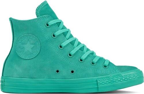 Converse smaragdové kotníkové tenisky Chuck Taylor All Star Hi Pure Teal -  41 d742e27638