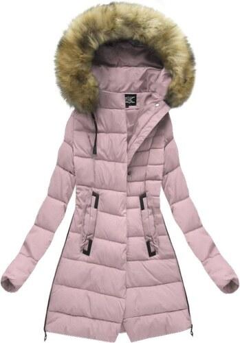 The SHE Ružová dámska bunda s kožušinou - Glami.sk cba83cd8002