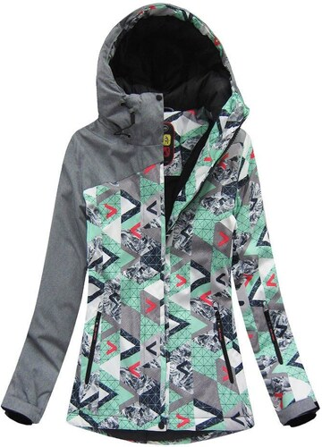 5914958489046 The SHE Zelená dámska zimná bunda odolná proti dažďu a vetru - Glami.sk