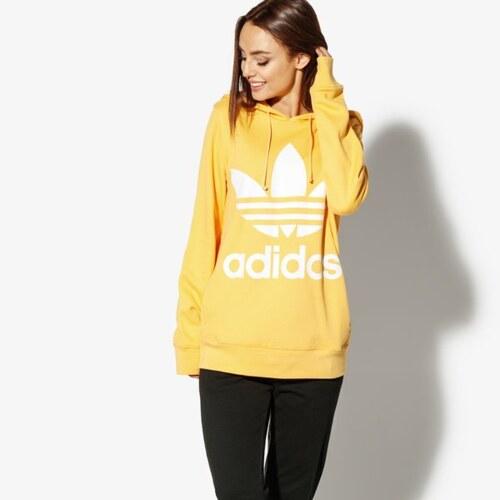 Adidas Mikina Trefoil Hoodie Adicolor ženy Oblečení Mikiny DH3138 Žlutá 94e351c518