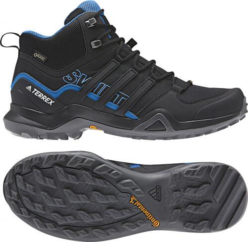 -32% Pánské kotníkové boty adidas Performance TERREX SWIFT R2 MID GTX (Černá    Modrá) 50144a3ce8