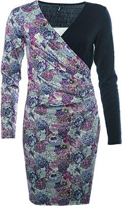 c066b8b3d5e0 -36% Smash AVELINA Dámské šaty tmavě modré s květinovým vzorem (A1882431)