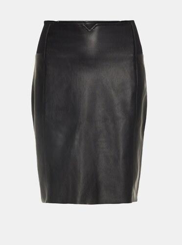 e3f1063a2ac9 Černá koženková sukně do pasu VERO MODA - Glami.cz