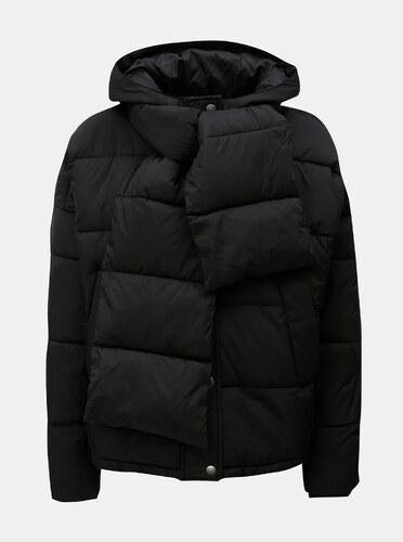 df2b1dd49e11 Čierna zimná bunda s odopínateľným šálom VERO MODA - Glami.sk
