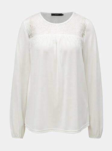 355da1450c Biele tričko s čipkovaným sedlom VERO MODA - Glami.sk
