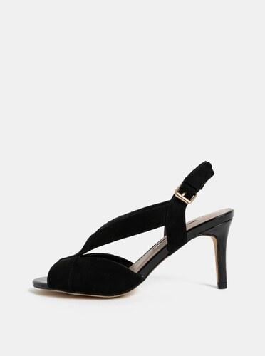 603060ce40f7 Čierne sandále v semišovej úprave na ihličkovom podpätku Dorothy Perkins  Britney