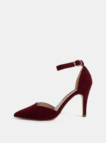 bf90c2def39d Vínové sandále v semišovej úprave Dorothy Perkins Georgia - Glami.sk