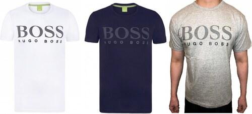 42bcb1b6b9 Pánská trička HUGO BOSS 3 Pack - bílá   navy   šedá - Glami.cz