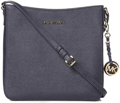 Michael Kors Jet Set Travel Large Saffiano Messenger Bag Admiral ... 90476501135