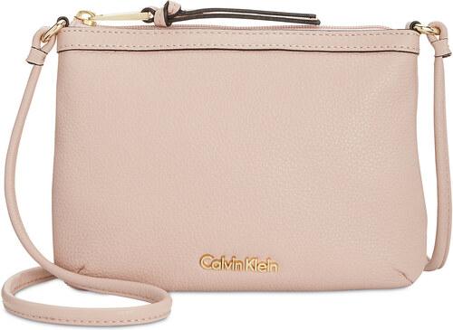 bdcc053484 Calvin Klein Carrie Pebble Leather Crossbody Sugarplum - Glami.cz