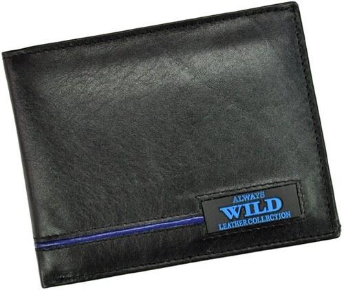 Pánska kožená peňaženka Wild Always - N992-RB - čierna   modrá ... 963b7d4c84a