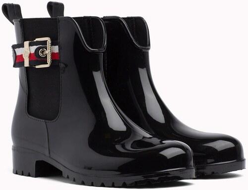 Tommy Hilfiger čierne gumáky Corporate Belt Rain Black - Glami.sk bf3a384e62