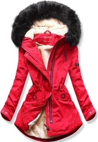 MODOVO Dámska zimná bunda s kapucňou Q35 červená - Glami.sk da4e8afc62c