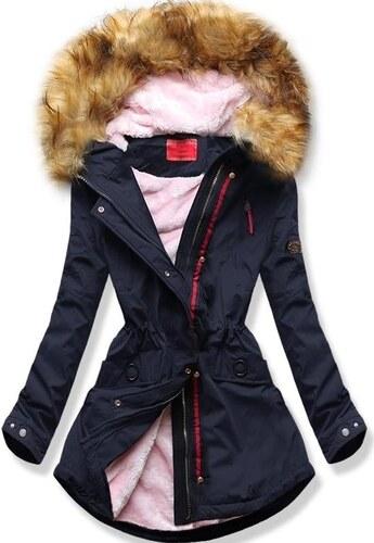 7c36191823 MODOVO Dámska zimná bunda s kapucňou Q35 tmavo modrá - Glami.sk