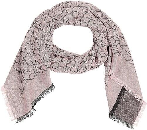 Calvin Klein pudrový šátek Monogram Jaquard - Glami.cz 9e3d522a78