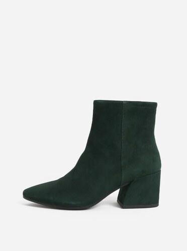 401d4e9752 Zelené dámske semišové členkové topánky Vagabond Olivia - Glami.sk