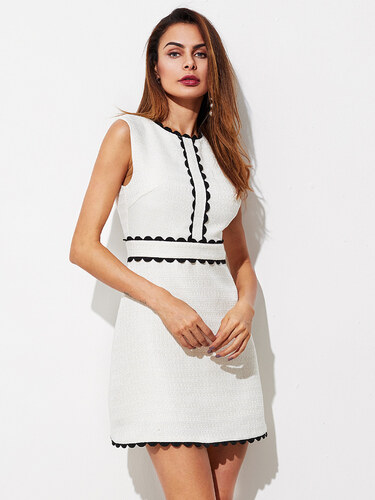 5e3c1f34550 Emmacloth Elegantní kontrastní krajkové mini šaty - Glami.cz