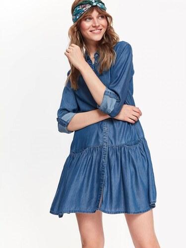 d76b8b7c7f4f Top Secret šaty dámské jeans s dlouhým rukávem - Glami.cz