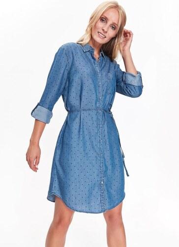 6ca32181dbe8 Top Secret šaty dámské jeans s puntíky - Glami.cz