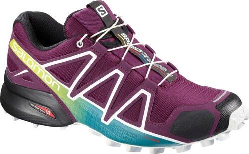 Trailové topánky Salomon SPEEDCROSS 4 W Darkpurpl Wh Deep La L40136100 d27db1fbf9
